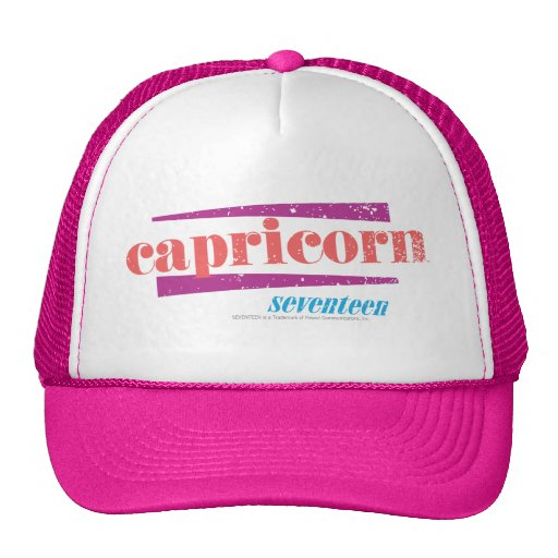 Capricorn Lt. Pink Trucker Hat