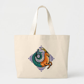 capricorn mermaid large tote bag