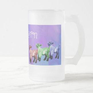 Capricorn Mulitcolored Miniature Goat Frosted Mug