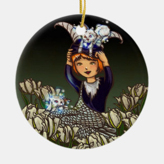 Capricorn Double-Sided Ceramic Round Christmas Ornament