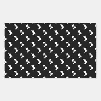 Capricorn Pattern Black and White Rectangular Sticker