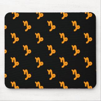 Capricorn Pattern Orange Mouse Pad