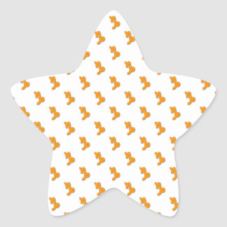 Capricorn Pattern Orange Star Sticker