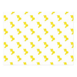 Capricorn Pattern Yellow Postcard