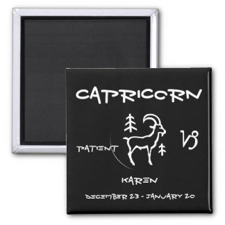 Capricorn Personalized 2 Inch Square Magnet