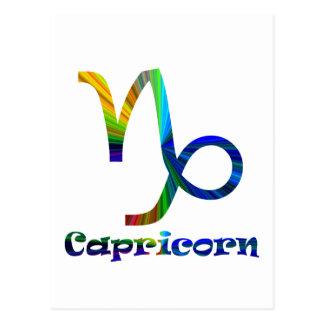Capricorn Psychedelic Postcard