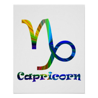 Capricorn Psychedelic Poster