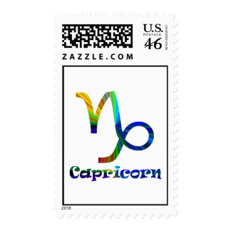 Capricorn Psychedelic Stamp