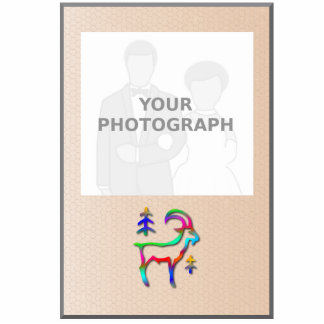 Capricorn Rainbow Goat Photo Frame Standing Photo Sculpture