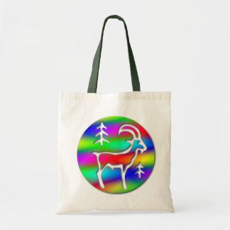 Capricorn Rainbow Goat Zodiac Crafts and Shopping Canvas Bag