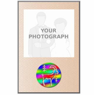 Capricorn Rainbow Goat Zodiac Photo Frame Standing Photo Sculpture
