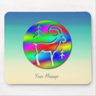 Capricorn Rainbow Goat Zodiac Star Sign Mouse Mat Mouse Pad