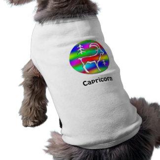 Capricorn Rainbow Goat Zodiac Star Sign Shirt