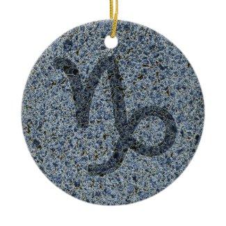 capricorn round ceramic ornament