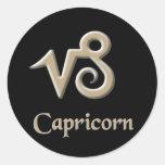 Capricorn Round Sticker