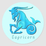 Capricorn Sign Aqua Sticker