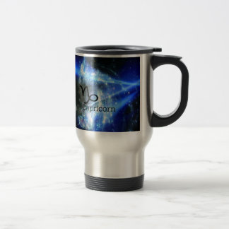 capricorn sign travel mug