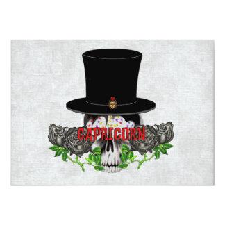 Capricorn Skull Card