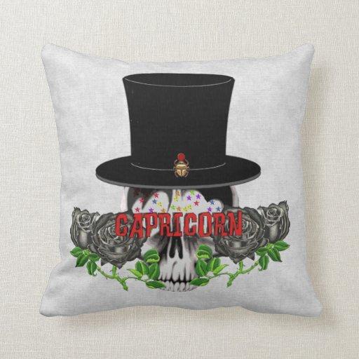 Capricorn Skull Pillow