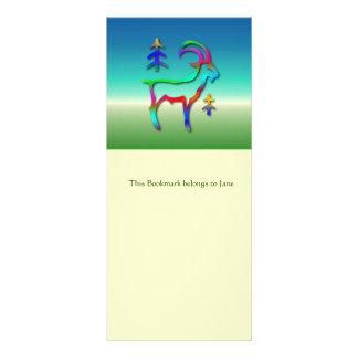 Capricorn Star Sign Rainbow Color Goat Bookmark Rack Card