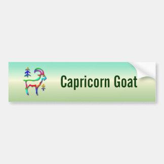 Capricorn Star Sign Rainbow Color Goat Room Or Bumper Sticker