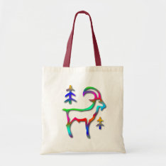 Capricorn Star Sign Rainbow Color Goat Tote Bag at Zazzle