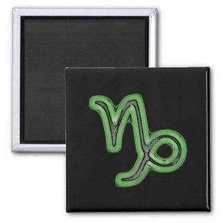 Capricorn Star Sign Symbol 2 Inch Square Magnet