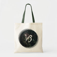 Capricorn Star Sign Universe Crafts & Shopping Tote Bag at Zazzle