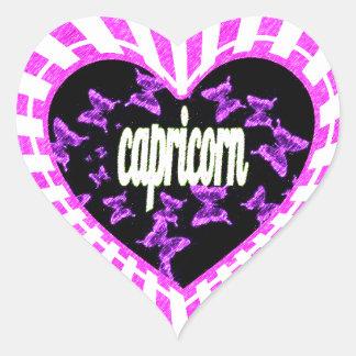 capricorn heart sticker
