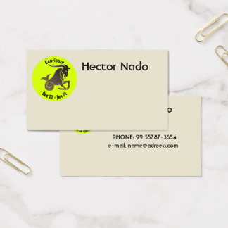 CAPRICORN SYMBOL BUSINESS CARD