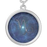 Capricorn symbol custom necklace