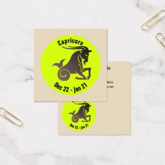 CAPRICORN SYMBOL SQUARE BUSINESS CARD