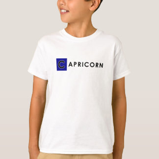 CAPRICORN T SHIRT for Kids -Zodiac Color White Tee
