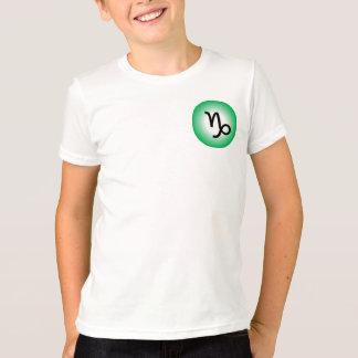 CAPRICORN T SHIRT for Kids-Zodiac Symbol White Tee