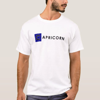CAPRICORN T SHIRT for Men - Zodiac Color White Tee
