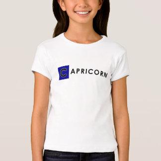 CAPRICORN T SHIRT - Girls' Zodiac Color White Tee