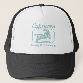 Capricorn Teal Trucker Hat