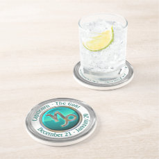 Capricorn - The Goat Astrological Sign Drink Coaster