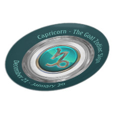 Capricorn - The Goat Astrological Sign Melamine Plate