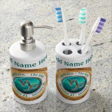 Capricorn - The Goat Astrological Sign Soap Dispenser And Toothbrush Holder