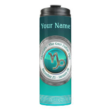 Capricorn - The Goat Astrological Sign Thermal Tumbler