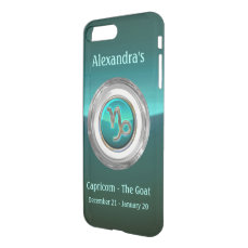 Capricorn - The Goat Astrological Symbol iPhone 7 Plus Case