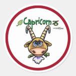 Capricorn - The Goat Classic Round Sticker