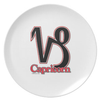 Capricorn the goat dinner melamine plate