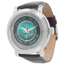 Capricorn - The Goat Horoscope Sign Wrist Watch