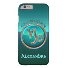 Capricorn - The Goat Zodiac Sign Barely There iPhone 6 Case