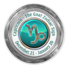 Capricorn - The Goat Zodiac Sign Ceramic Knob