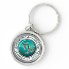Capricorn - The Goat Zodiac Sign Keychain