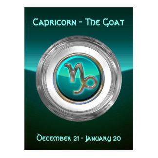 Capricorn - The Goat Zodiac Sign Postcard