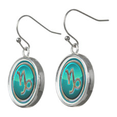 Capricorn - The Goat Zodiac Symbol Earrings